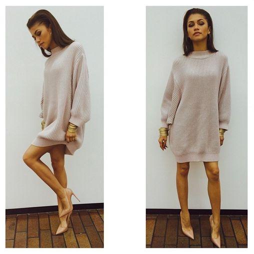 #Zendaya Big Sweater #teen #moda #fashion #winter