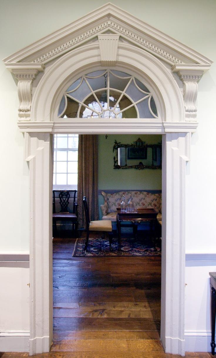Federal style doorway at Winterthur