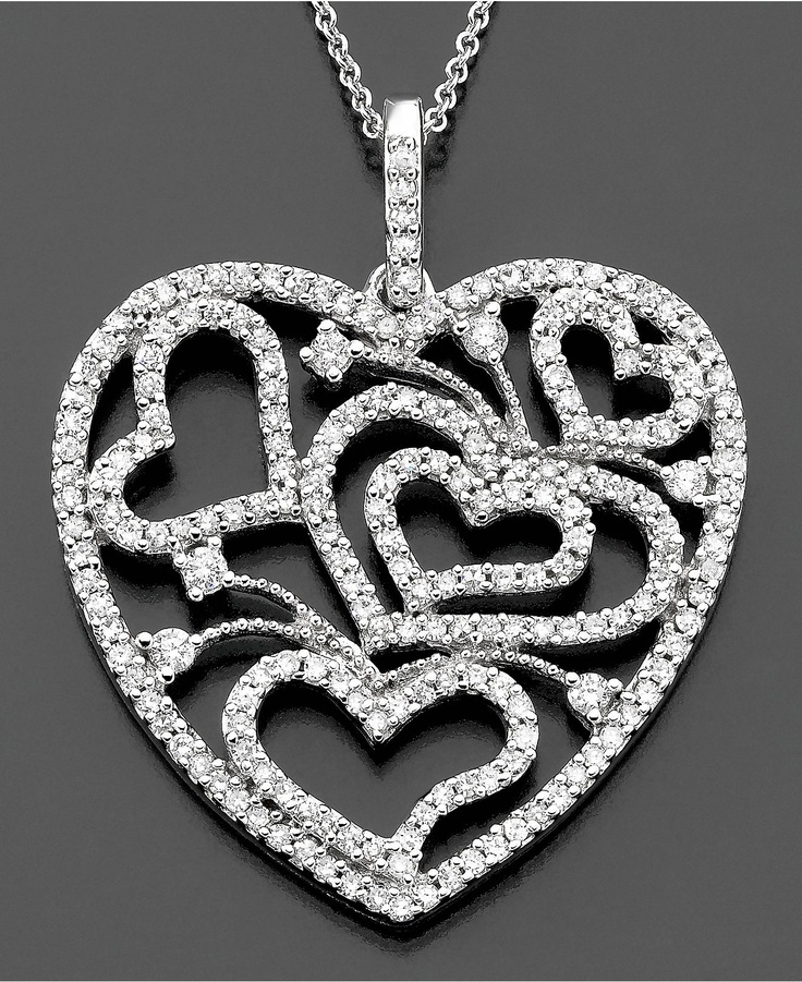 Effy Collection Diamond Necklace 14k White Gold Diamond