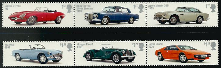 British auto Legends from the 2013 set of stamps