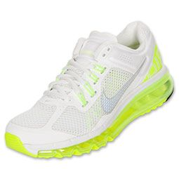 Women's Nike Air Max 2013 in Summit White/Reflect Silver/Volt