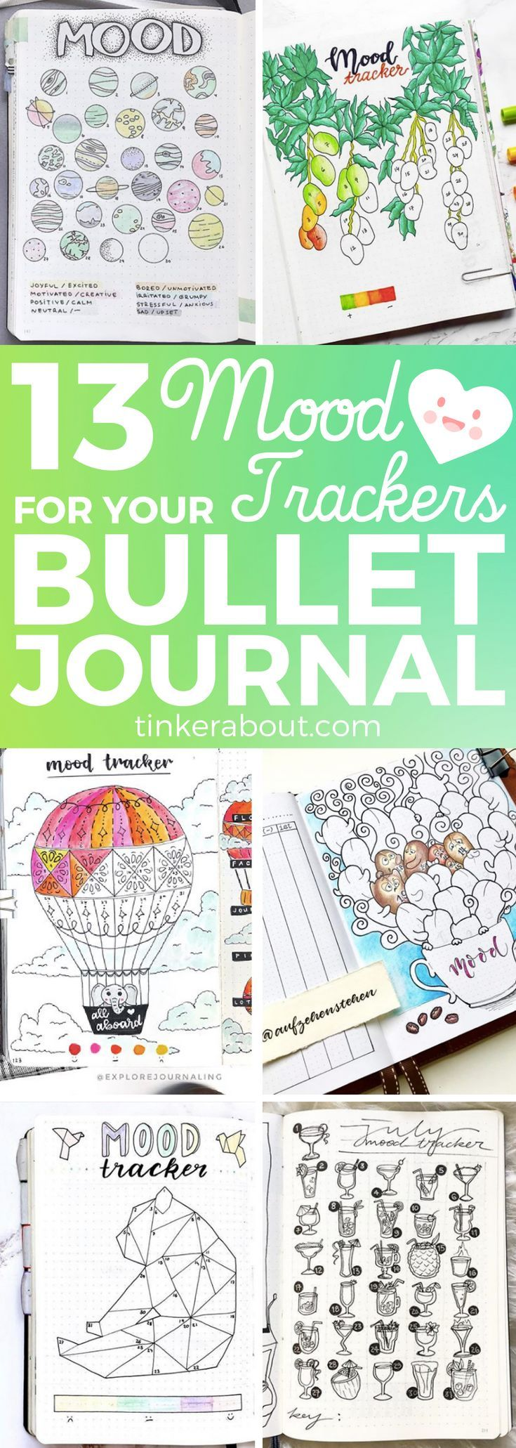 13 More Mood Tracker Ideas For Your Bullet Journal To Help Better Your Mental Health