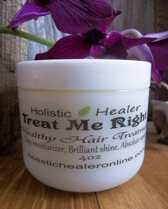 Treat Me Right Healthy Hair Treatment  can be used to repair split ends, condition hair from root to end, and can be used as a leave in conditioner. works great for curly hair, corse hair, adds shine.