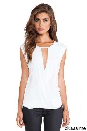 Blusas sin mangas de moda casual elegante verano 2014 - 21 | Blusas de moda 2014
