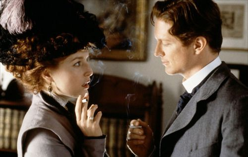 Gillian Anderson as Lily Bart and Eric Stoltz as Lawrence Selden in The House of Mirth (2000).