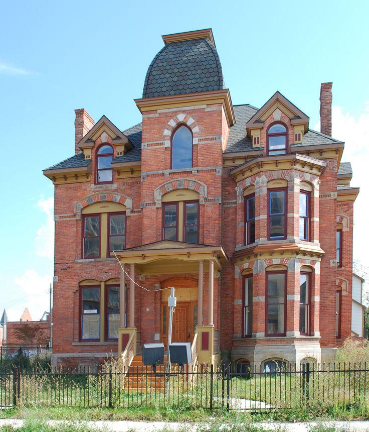 Abandoned Lucien Moore House, Brush Park, Detroit