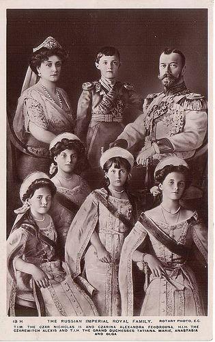 Zar Nikolaus II. von Russland samt Familie