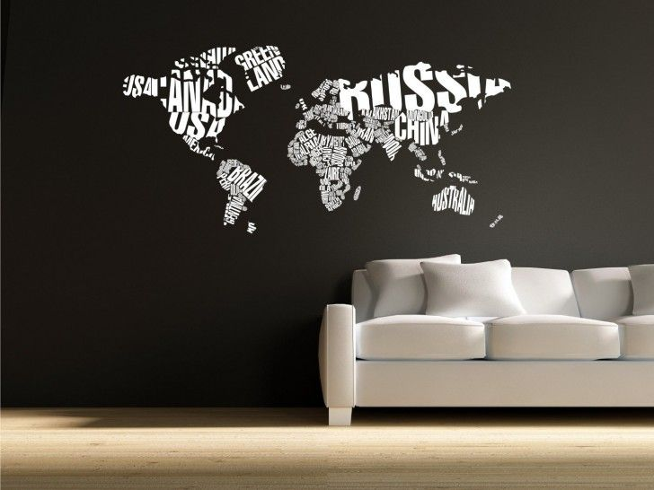 28 best world map sticker decor images on pinterest world maps world map in typography wall decal stickers decor graphics the custom vinyl shop gumiabroncs Image collections