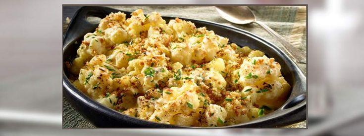 Makaroni med ost og blomkål