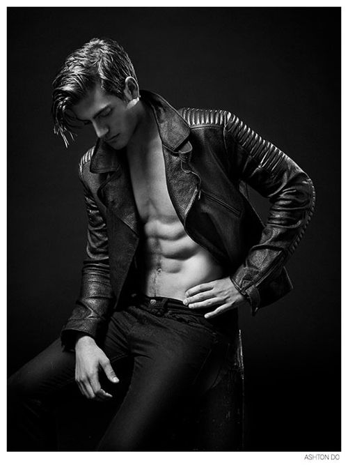 Justin Hopwood Poses in Leather for New Photos by Ashton Do