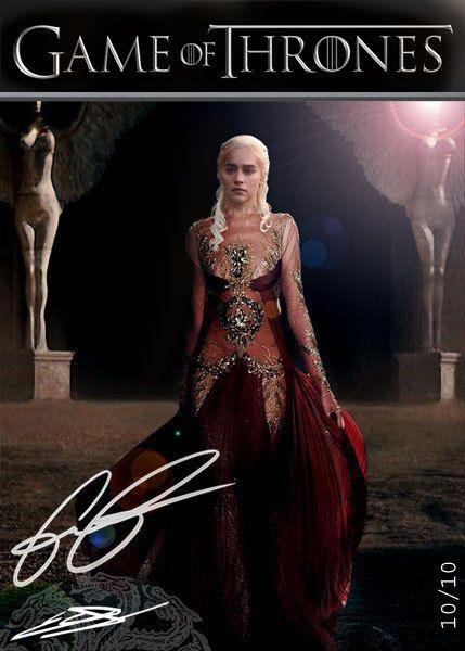 Emilia Clarke Daenerys Targaryen Game of Thrones *QueenTarg.v1 AutoRepro Card 10