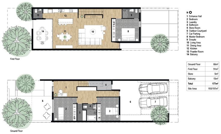 Terrace house plan