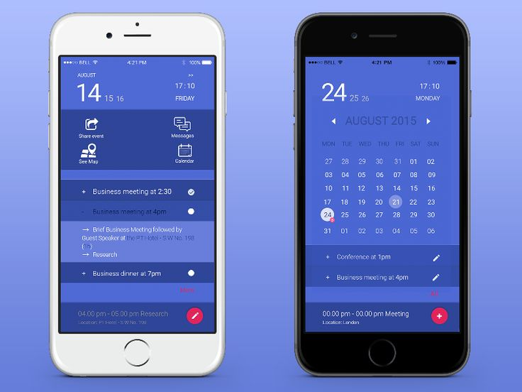 Mobile schedule app by Madalina Taina