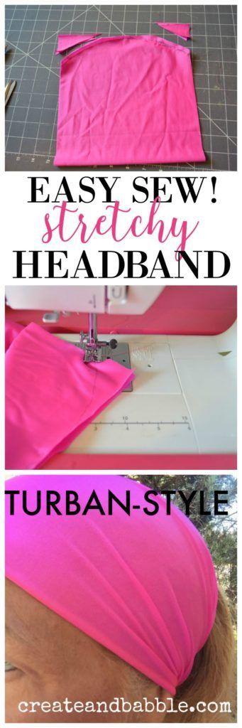 How to Make Stretchy Turban-Style Headbands