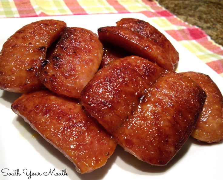 South Your Mouth: Sweet and Tangy {Quick and Easy} Smoked Sausage. Will try w/ turkey smoked sausage & reg brown sugar. Surprised Splenda brown sugar had more ww pts for 2 T!!