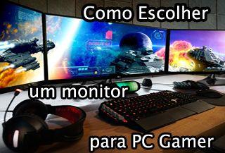 como escolher um bom monitor, para pc gamer, led, lcd, 4k, melhor marca, para jogar, monitor gamer, polegadas, monitor bom e barato, custo beneficio,