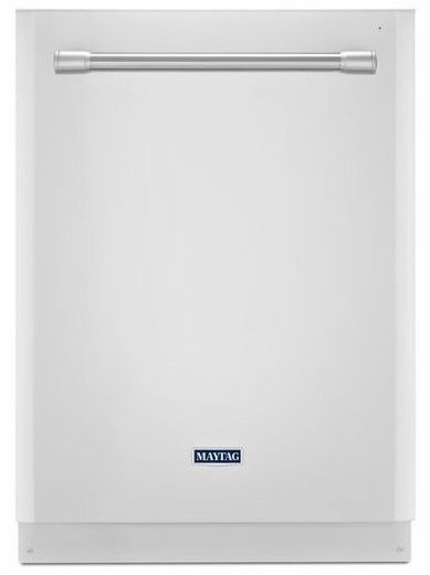 MDB8969SDH Maytag Quietest Dishwasher Ever with Large Capacity - White with Stainless Accents