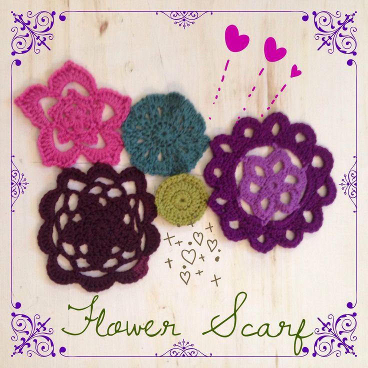 Work in progress Flower Scarf.... Roberta de Marchi