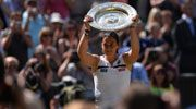 """Marion Bartoli Beats Sabine Lisicki for 1st SLAM! Marion crushed Sabine in 30min 1st set. Sabine's rally fizzled 2nd set & Marion closed out her 2nd SLAM Final with an ACE out wide: 6-1, 6-4. Marion: """"..I've dreamed about this moment for so long. For me, winning Wimbledon is beyond my wildest dreams, let alone with an ace - but I've been practicing my serve for so long, I guess I saved it for the best moment! I'm so happy to be holding this trophy."""""""