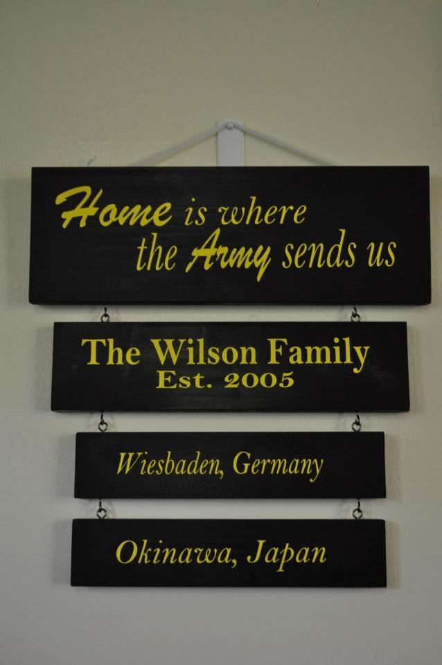 military duty station sign boards by craft giraffe www