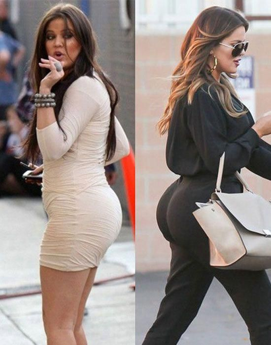 Kim kardashian's butt may be fake after all