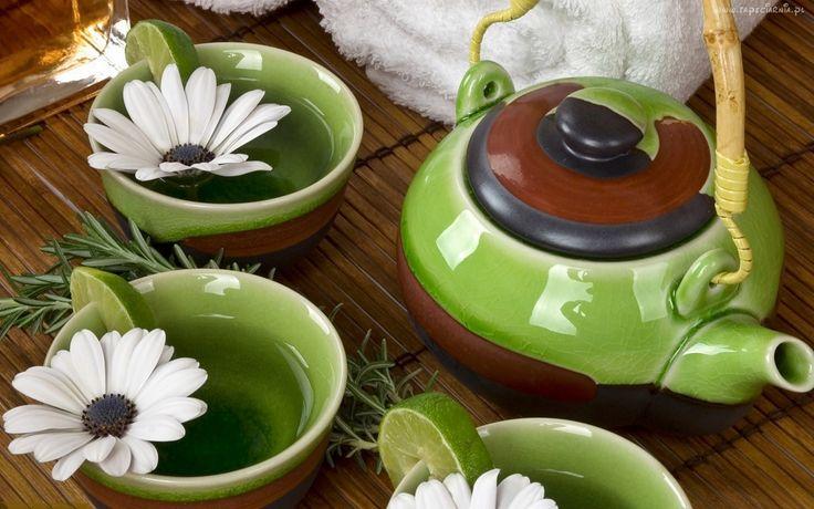 Serwis, Zielona, Herbata, Limonka, Rumianki