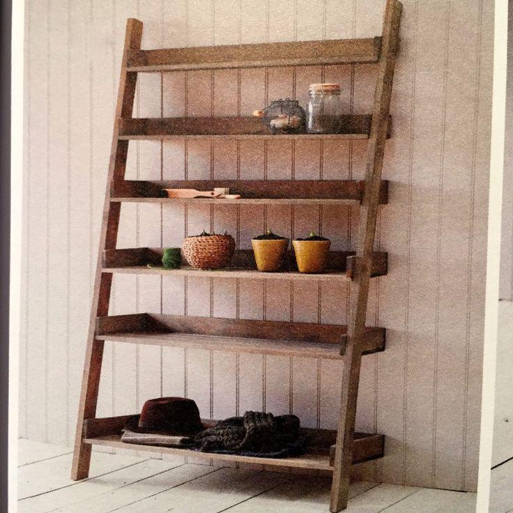 rustic oak ladder shelf large allissias attic vintage french style furniture cabinets. Black Bedroom Furniture Sets. Home Design Ideas