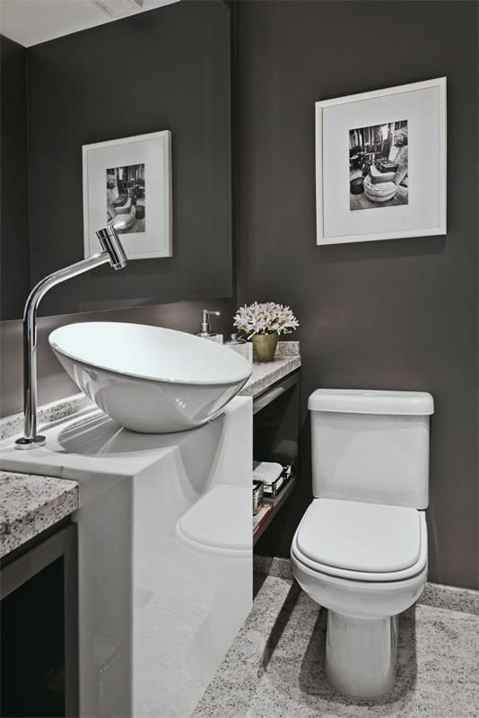 (Inspiration) Foamandbubbles.com: A cloakroom is a great place to use signature pieces, like this modern tap.
