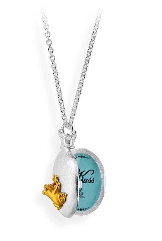 Sterling Silver Frog locket by Drachenfels Design