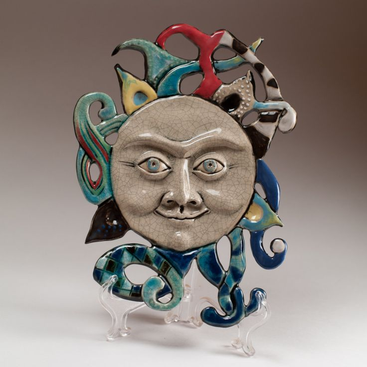 "Ceramic panel ""the Sun"" by KuklaArt on Etsy"