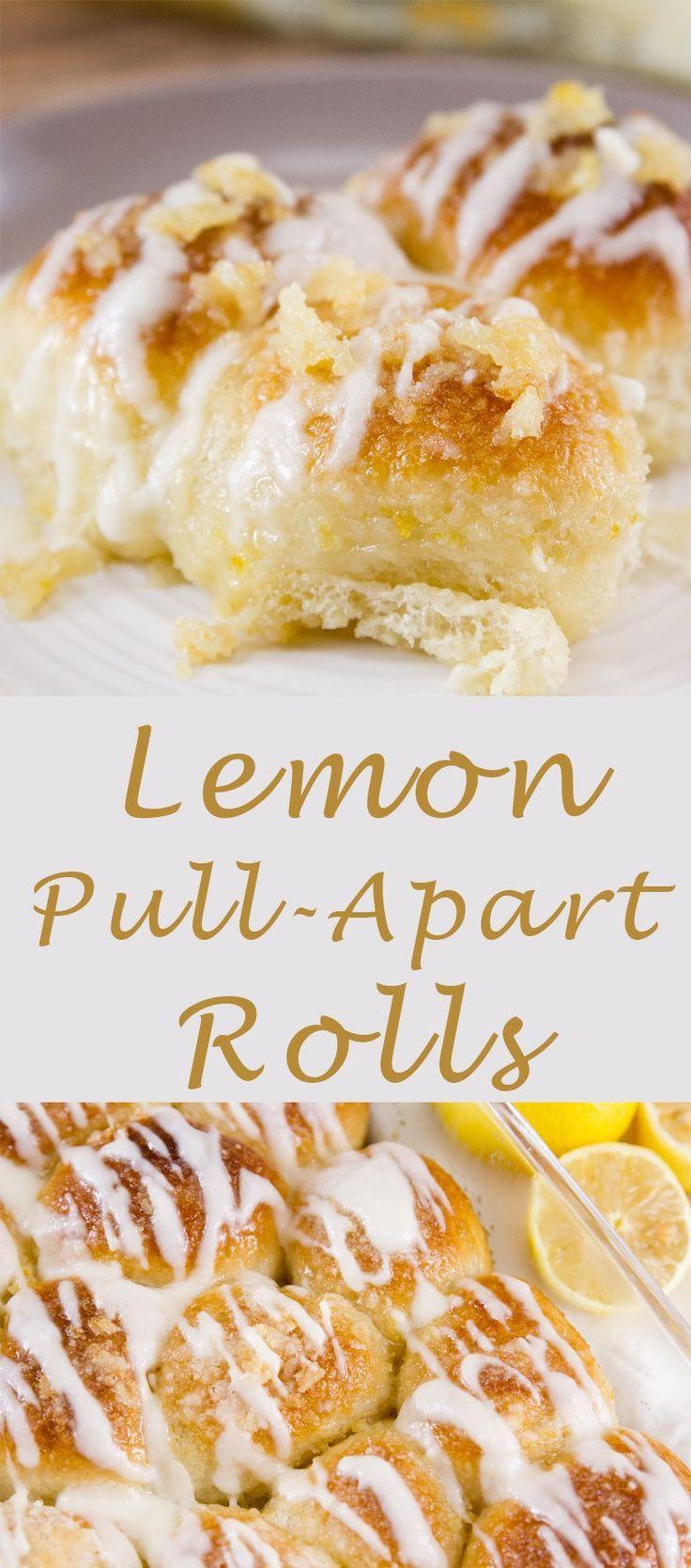 Lemon Pull-Apart Rolls Recipe #lemon #breakfast #treat