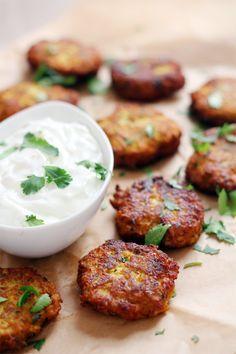 Curry Blumenkohl Krapfen auch ohne Salz sehr lecker
