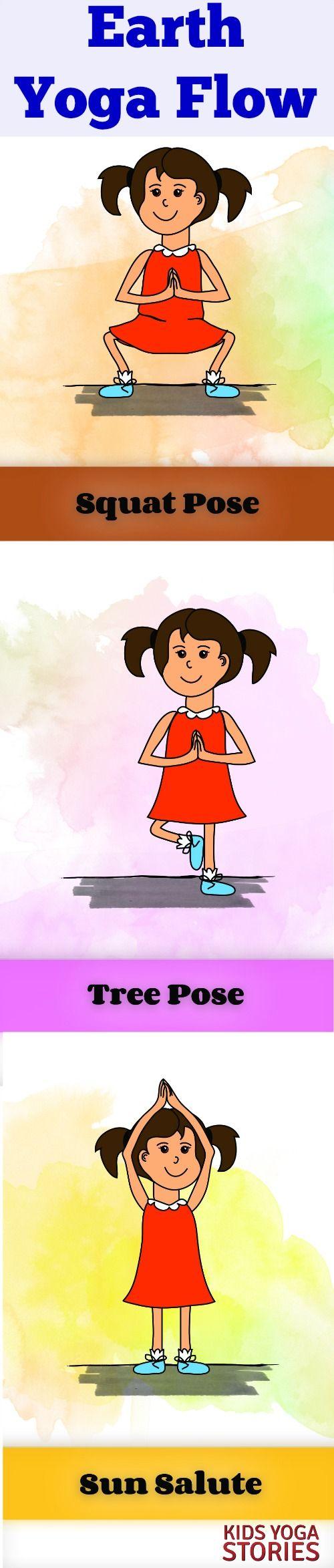 Earth Yoga 3-yoga pose flow | Kids Yoga Stories