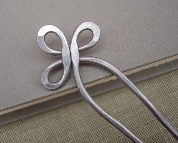 Trinity Schleife Aluminium Doppel Haar Gabel, Pin Schal, Haar-Sticks Bun Inhaber…