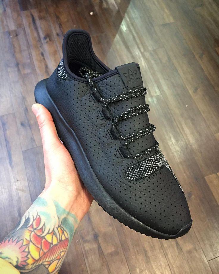adidas tubular shadow trainers black grey five white