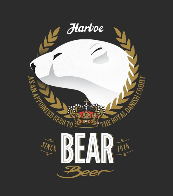 Bear. Love this illustration style.Logo Design, Polar Bears, Corporate Identity, Beer Packaging, Beer Logo, Beer Labels, Beer Design, Beer Poster, Bears Beer