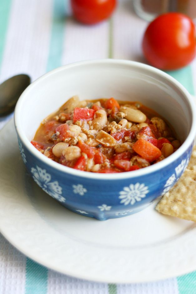 Spicy turkey and white bean chili...delicious and healthy!
