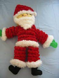 Free crochet pattern yo yo santa doll christmas diy for Yo yo patterns crafts