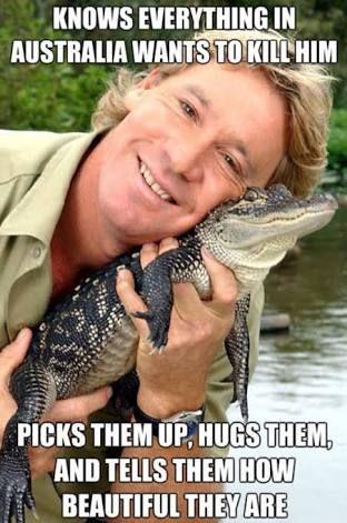 Steve Irwin Day - 15th November<I sense some Phil Lester in here