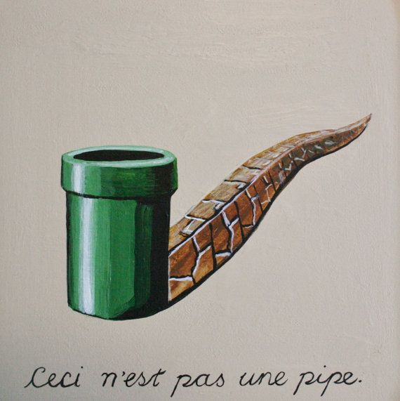 Super Mario Pipe/Magritte painting