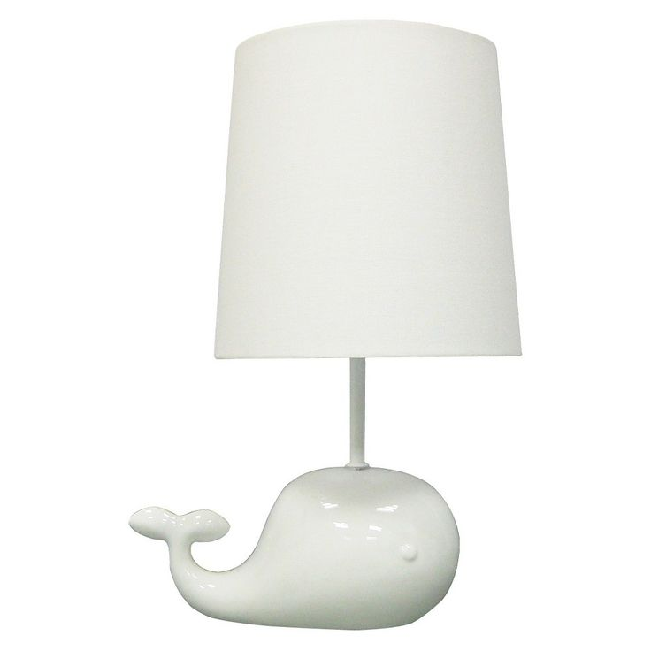 Circo Ceramic Table Lamp & Shade - Whale (without bulb)