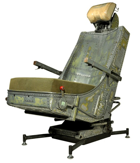 Recycled Aircraft Seat Into Office Chair