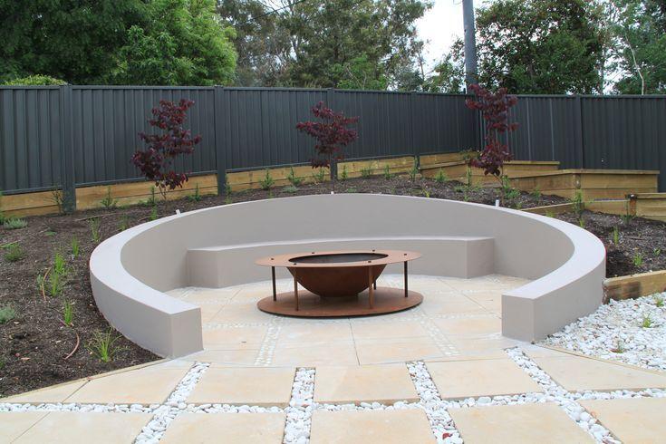Contemporary Garden Janna Schreier Garden Design North Shore Sydney Feuerstellen Im Freien Feuerstelle Garten Beton Feuerstellen