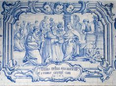 Adoração dos Magos. Painel de composição figurativa do século XVIII, atribuído a Manuel Oliveira Bernardes.