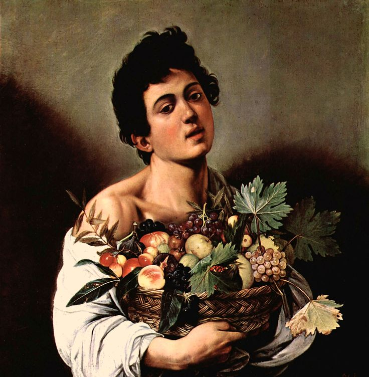 Caravaggio. Niño con un cesto de frutas. Galleria Borghese. Roma