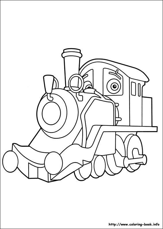 chuggington color pages - Chuggington Wilson Coloring Pages