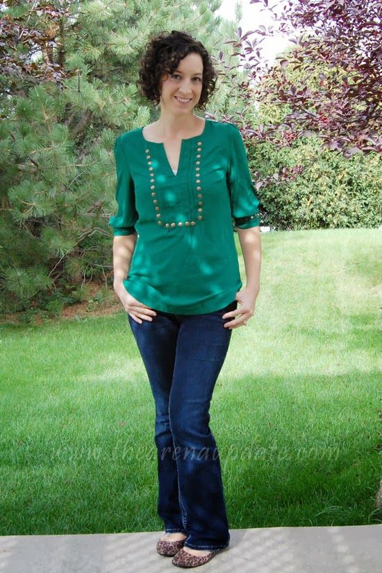 I would happily take another one of these shirts in a different saturated jewel tone!  This emerald is just divine!  Arena Five - Stitch Fix Review #8