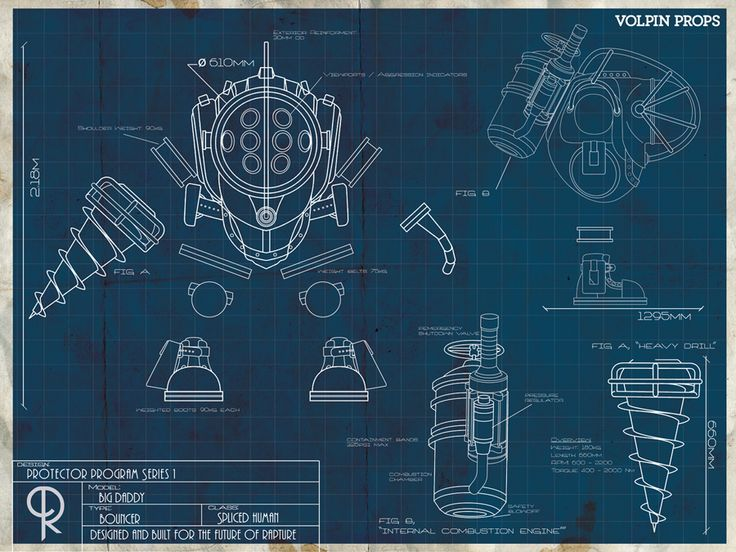 Big Daddy Blueprint By Volpin Props Blueprints