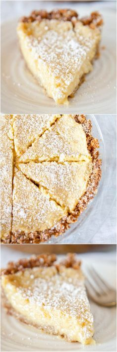 "Crack Pie (recipe) from the Momofoku Milkbar cookbook - ""There's a reason this pie has it's name. And it definitely lives up to the hype!"" The pie sells for $44.00 at Momofoku's!"