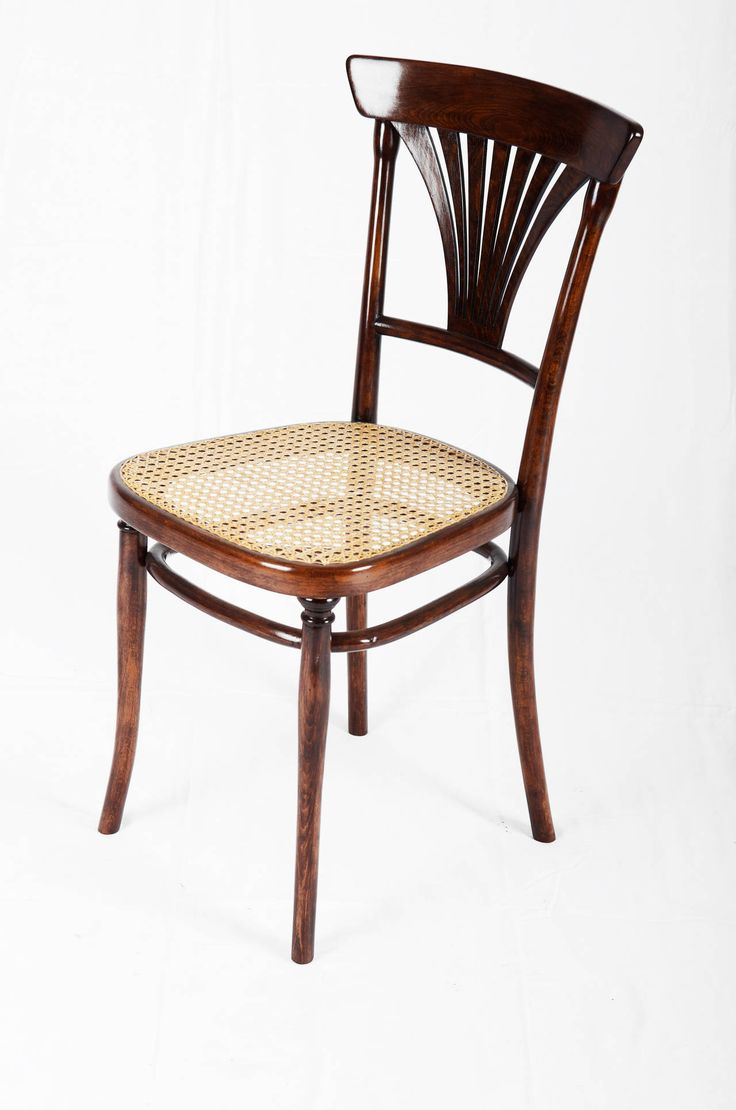 Vintage thonet style cafe chairs with stenciled seats - Thonet No 221 Set Of Four Chairs